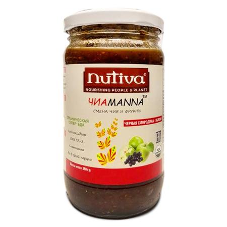 Органический фруктовый десерт чиаmanna черная смородина - яблоко nutiva
