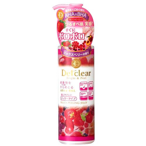 Очищающий пилинг-гель с aha и bha с эффектом сильного скатывания с ягодами meishoku detclear (Meishoku)