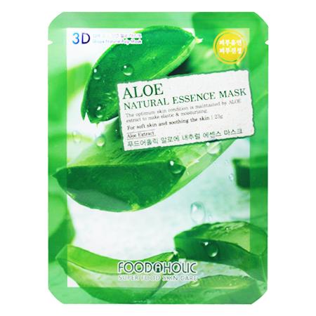 Тканевая 3d маска с натуральным экстрактом алоэ foodaholic (FoodaHolic)