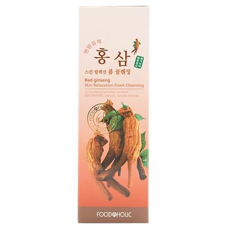 Очищающая пенка для умывания с натуральным экстрактом женьшеня красного foodaholic (FoodaHolic)