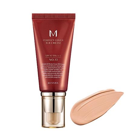 Бб крем для лица m perfect cover bb cream (no.21/light beige) missha