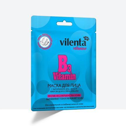 Маска для лица b3 vitamin против несовершенства кожи vilenta (Vilenta)