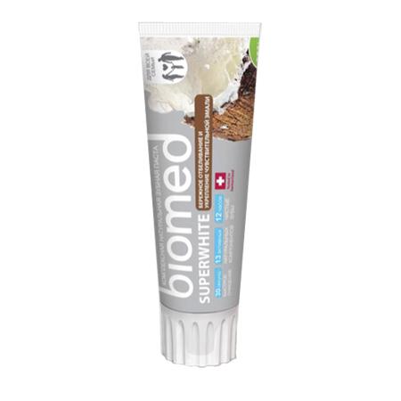 Зубная паста superwhite бережное отбеливание biomed