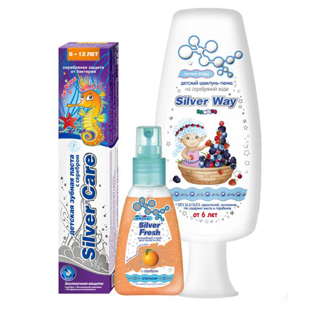 """Подарочный набор """"kids 6+"""" silver care от DeoShop.ru"""
