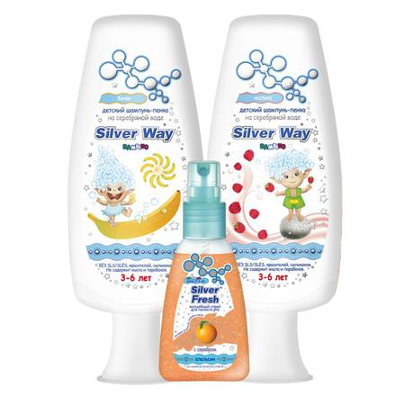 """Подарочный набор шампуней """"kids 3-6"""" silver care от DeoShop.ru"""