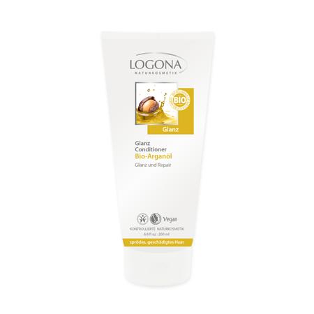 Кондиционер для блеска волос с био-аргановым маслом logona (Logona)