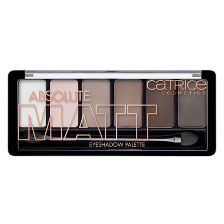 Тени для век absolute matt eyeshadow palette (тон 010) матовые оттенки catrice