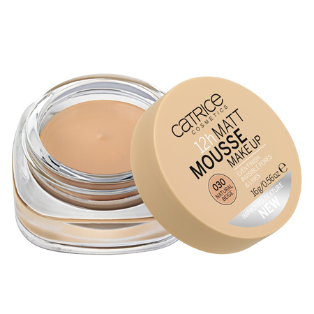 Мусс матирующий 12h matt mousse make up (тон 030) natural beige catrice