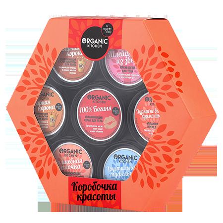 """Подарочный набор """"коробочка красоты"""" organic shop от DeoShop.ru"""