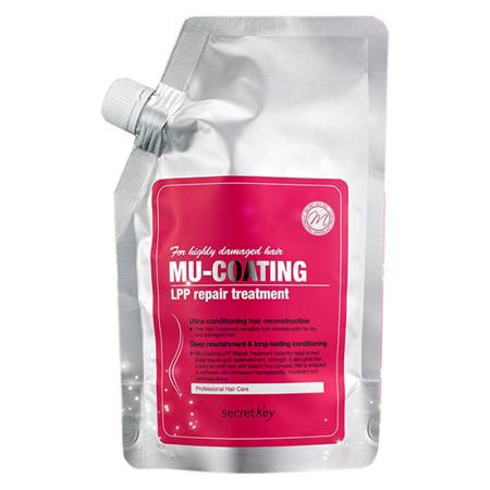 Бальзам для лечения и ламинирования волос mu-coating lpp repair treatment secret key шампунь secret key mu coating silk protein shampoo