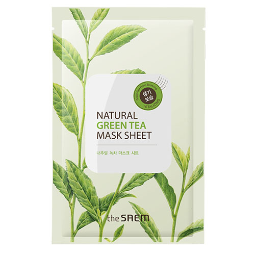 Маска тканевая с экстрактом зеленого чая natural green tea mask sheet the saem
