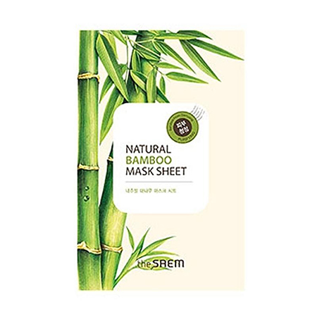 Маска тканевая с экстрактом бамбука natural bamboo mask sheet the saem