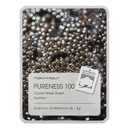 Тканевая маска для лица с экстрактом икры pureness 100 caviar mask sheet tony moly (Tony Moly)