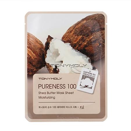Тканевая маска для лица масло ши pureness 100 shea butter mask sheet tony moly (Tony Moly)
