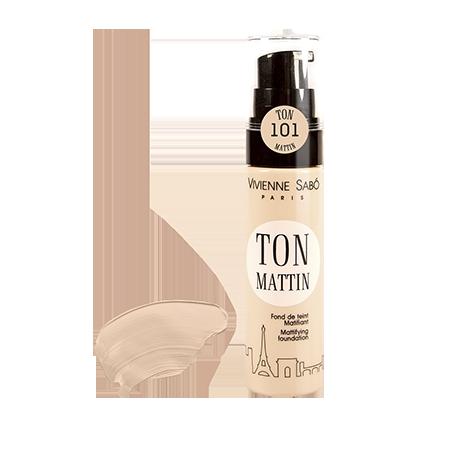 Матирующий тональный крем (тон 01 розово-бежевый) ton mattin vivienne sabo