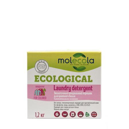 Стиральный порошок для цветного белья с растительными энзимами molecola 9073