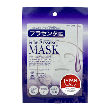 Маска с плацентой pure5 essential japan gals (Japan Gals)