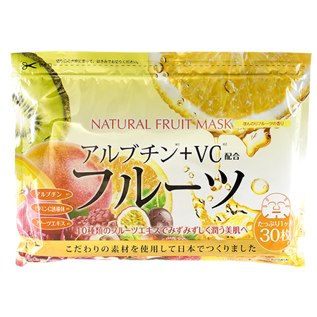 Курс натуральных масок для лица с фруктовыми экстрактами 30 шт japan gals (Japan Gals)