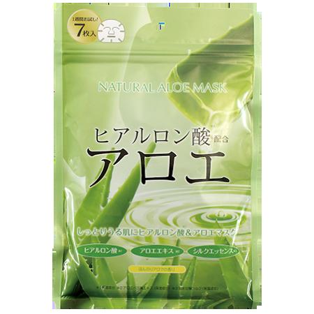 Курс натуральных масок для лица с экстрактом алоэ 7 шт japan gals