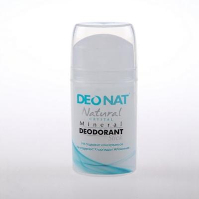 Минеральный дезодорант кристалл чистый стик овал pushup 100 гр deonat (DeoNat)
