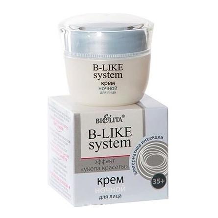 Крем ночной для лица эффект укола красоты белита - витекс альгинатные маски для лица белита
