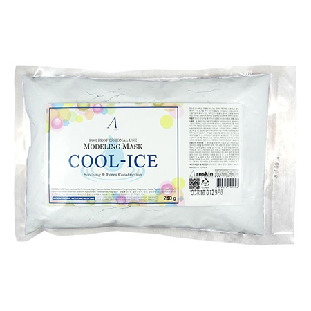 Маска альгинатная с охлаждающим и успокаивающим эффектом (пакет) cool-ice modeling mask anskin (ANSKIN)