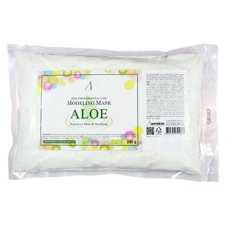 Маска альгинатная с экстрактом алоэ успокаивающая (пакет) aloe modeling mask anskin