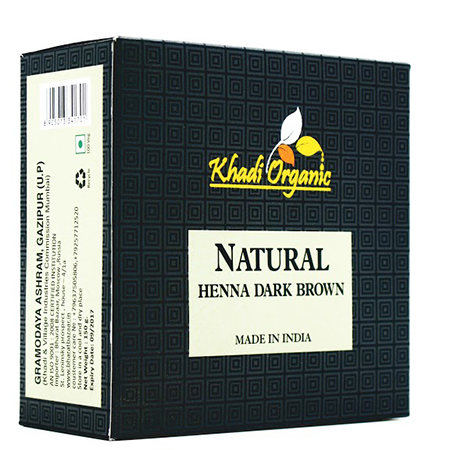 Органическая хна темно-коричневый organic khadi (Indian Khadi)