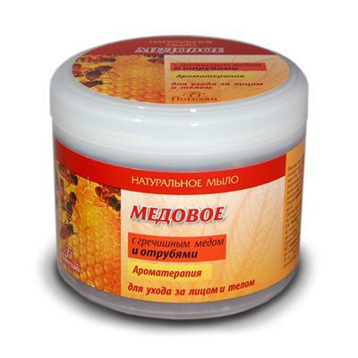 Мыло медовое с гречишным медом и отрубями floresan (Floresan)