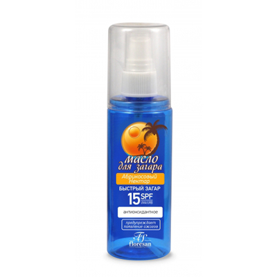 Масло для загара абрикосовый нектар c антиоксидантным действием floresan