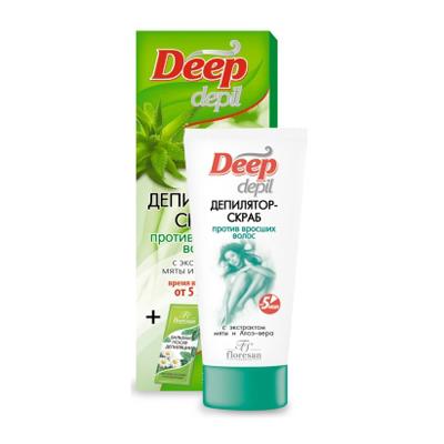 Депилятор – скраб против вросших волос с экстрактом мяты и алоэ вера floresan