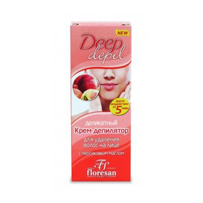 Деликатный крем-депилятор для удаления волос на лице с маслом персика floresan (Floresan)