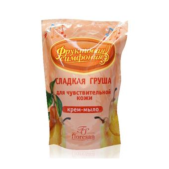Крем-мыло для чувствительной кожи сладкая груша сменный блок floresan