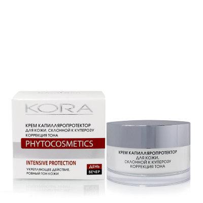 Купить Крем капилляропротектор для кожи, склонной к куперозу kora, KORA (Кора)