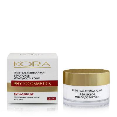 Крем-гель ревитализант 5 факторов молодости кожи kora набор крем kora набор spa лифтинг уход набор