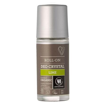Шариковый дезодороант-кристалл лайм urtekram