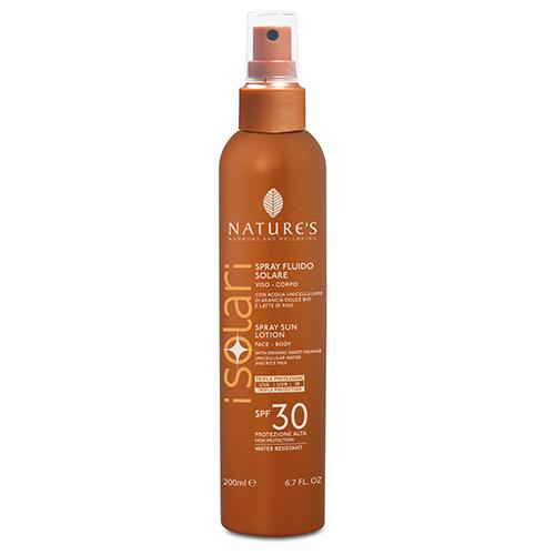 Купить Спрей от солнца spf-30 для лица и тела, с максимальным фактором защиты от uva, uvb и инфракрасного излучения nature's