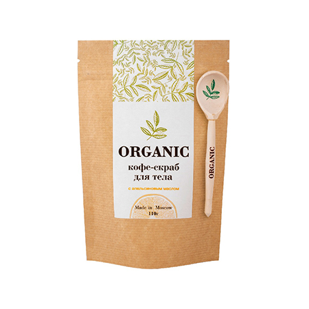 Кофе скраб для тела 110 гр organic недорого