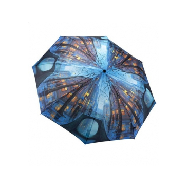 Складной зонт дождливый вечер galleria (Galleria)