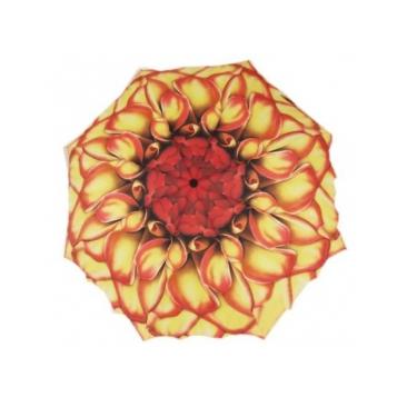 Зонт цветок пион желто-красный galleria недорого