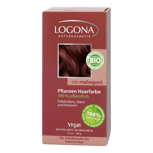 Растительная краска для волос 050 «махагон коричневато-красный» logona 01104