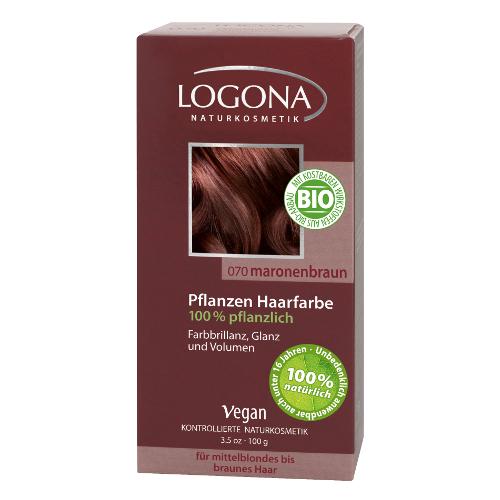 Растительная краска для волос 070 «каштан коричневый» logona