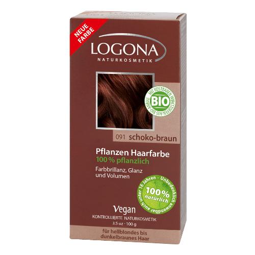 Растительная краска для волос 091 «шоколадно-коричневый» logona
