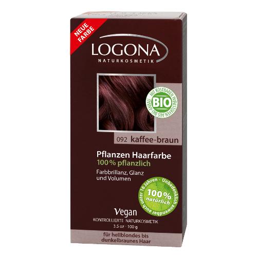 Растительная краска для волос 092 «кофейно-коричневый» logona