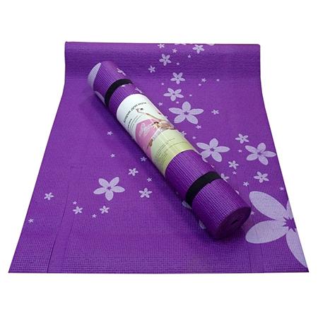 Коврик для йоги flower фиолетовый yoga D12015