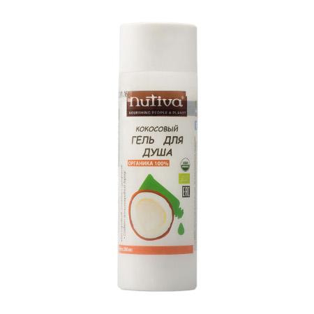 Кокосовый гель для душа organic nutiva