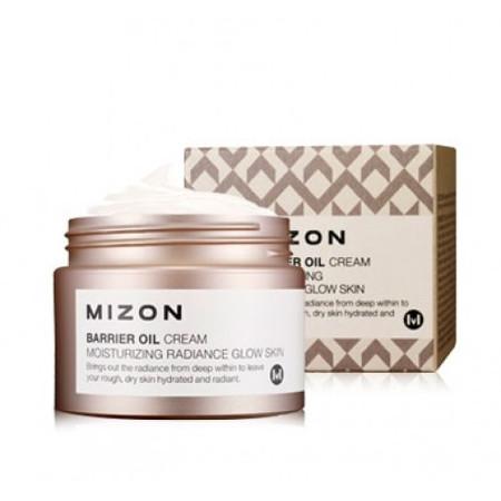 Крем для лица с маслом оливы barrier oil cream mizon (MIZON)