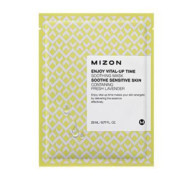 Маска листовая для лица укрепляющая enjoy vital-up time soothing mask mizon