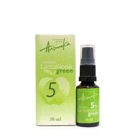 Пилинг lactobionic green 5% альпика альпика пилинг lactobionic white 5% 30 мл