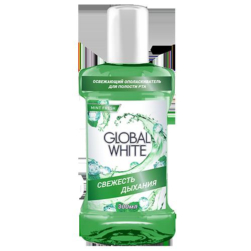 Ополаскиватель cвежесть дыхания global white